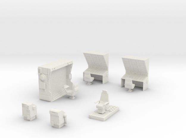 CP10 Space Fortress Bridge Set (28mm) in White Natural Versatile Plastic