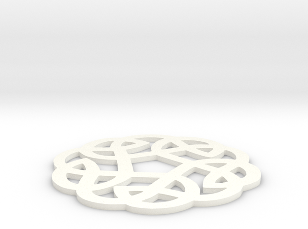 Celtic Knotwork Round Ornament 3d printed