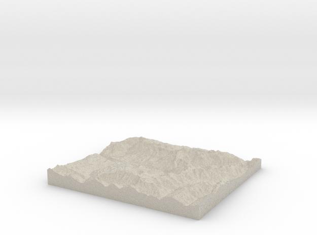 Model of Telluride 3d printed