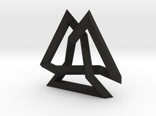 Trefoil Knot inside Equilateral Triangle (Small) 3d printed