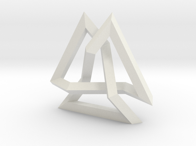 Trefoil Knot inside Equilateral Triangle (Medium) 3d printed