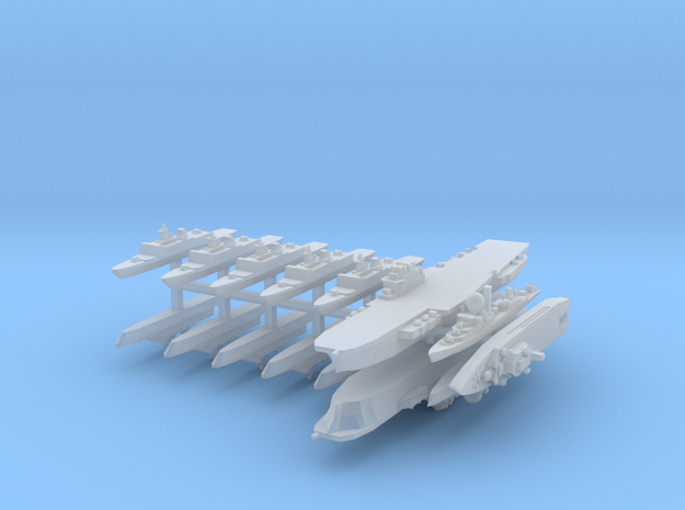 French Fleet 2 1:6000 (15 Ships) 3d printed