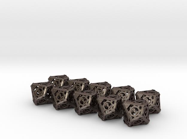 Steampunk 10d10 Set 3d printed