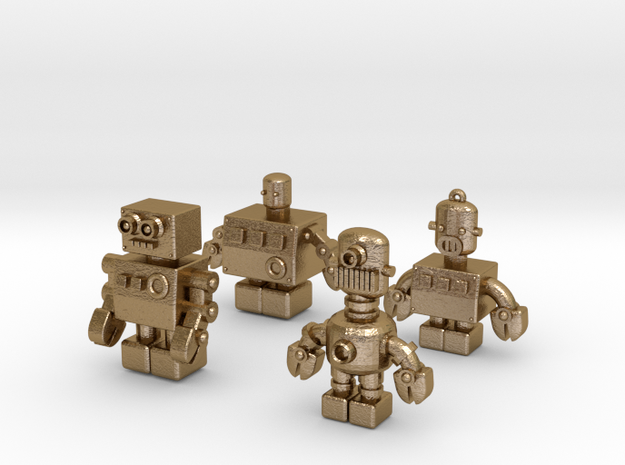 3D Printing Retro Robots Collection 3d printed