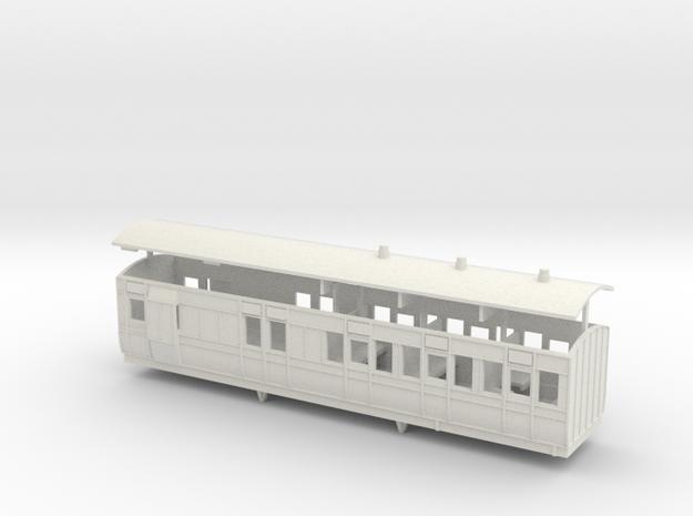 3mm scale LBER Brake Third Class Coach 3d printed