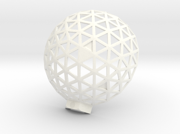 Geodesic Dome 6,1 2 in White Processed Versatile Plastic
