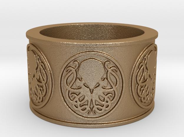 Ph'nglui mglw'nafh Cthulhu R'lyeh Ring #1, Size 10 3d printed