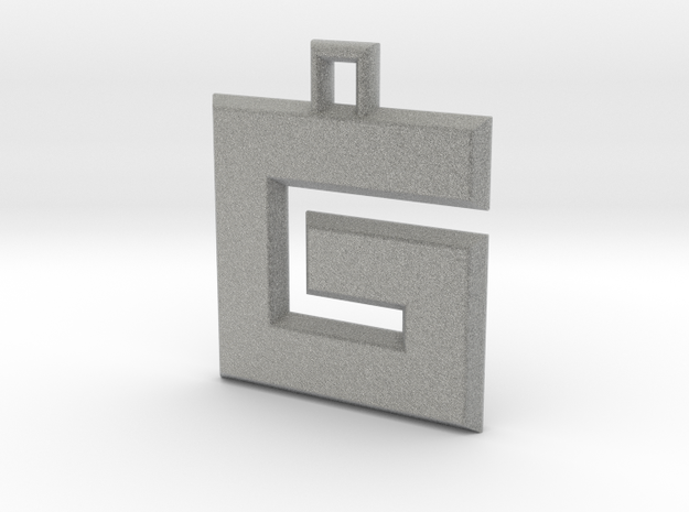 ABC Pendant - G Type - Solid - 24x24x3 mm 3d printed