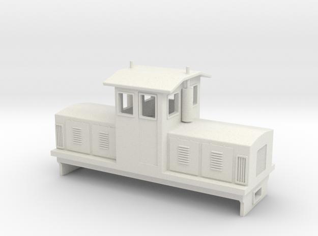 """HOn30 Centrecab Locomotive (""""Joanna"""") in White Natural Versatile Plastic"""