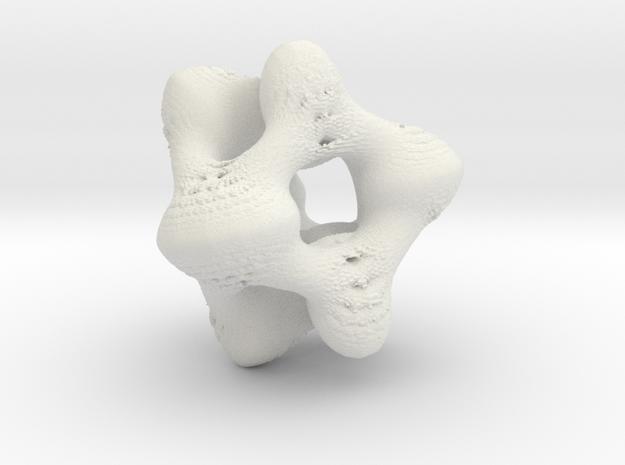 Juliabulb sqrtz^3 x=021 in White Natural Versatile Plastic