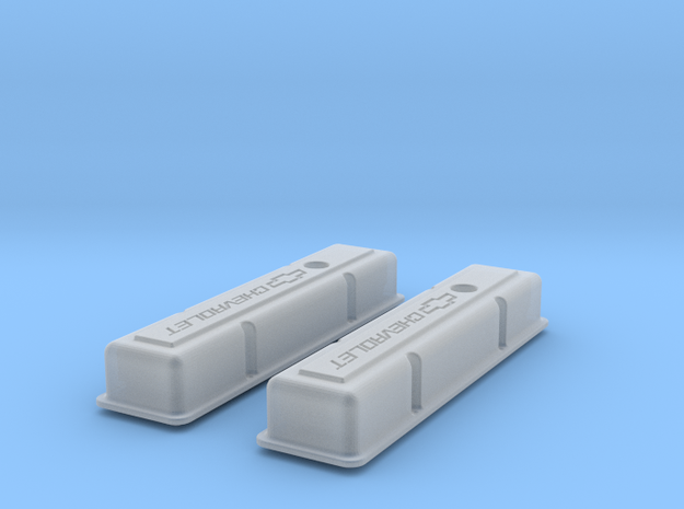 1/12 SBC Chevy Logo Valve Covers 3d printed