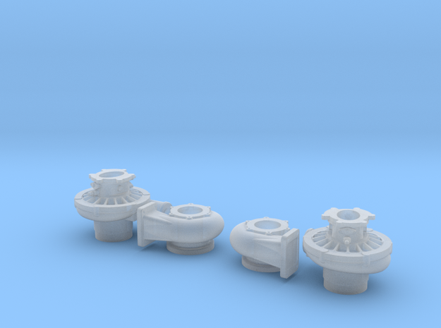 1/12 Scale 3 Inch Right And Left Turbo 3d printed