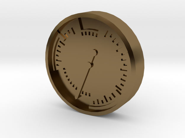 Aviation Button - Airspeed Indicator 3d printed
