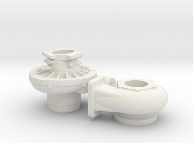 1/12 Scale 4 1/2 Inch Left Hand Turbo 3d printed