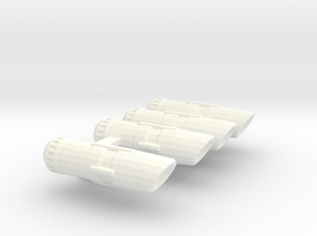Set of Smaller nacelles 3d printed