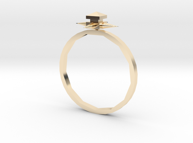 Temple Ring - Sz. 6 in 14K Yellow Gold