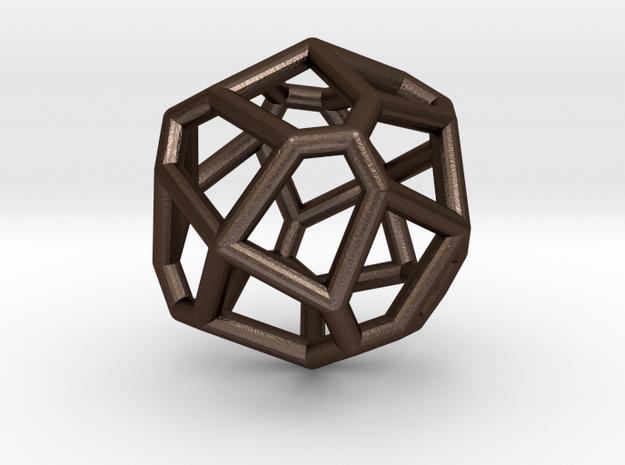 bilateral pentagonal icositetrahedron 3d printed