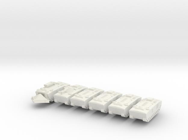 1/600 Scale LVTP-5, LVTE-5 and LVTH-5 in White Natural Versatile Plastic