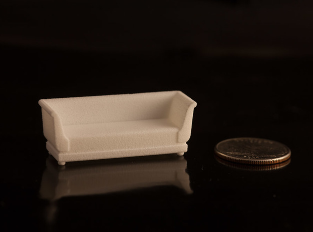 1:48 Sofa in White Natural Versatile Plastic