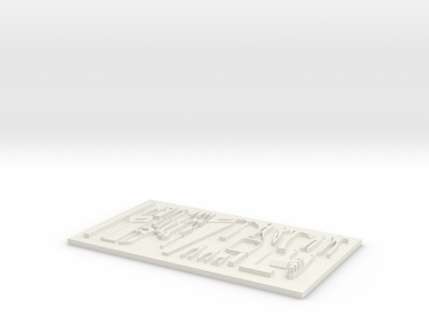 tool board in White Natural Versatile Plastic