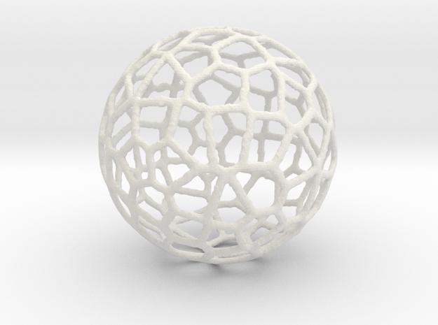 Alien Sphere Large (10cm) in White Natural Versatile Plastic