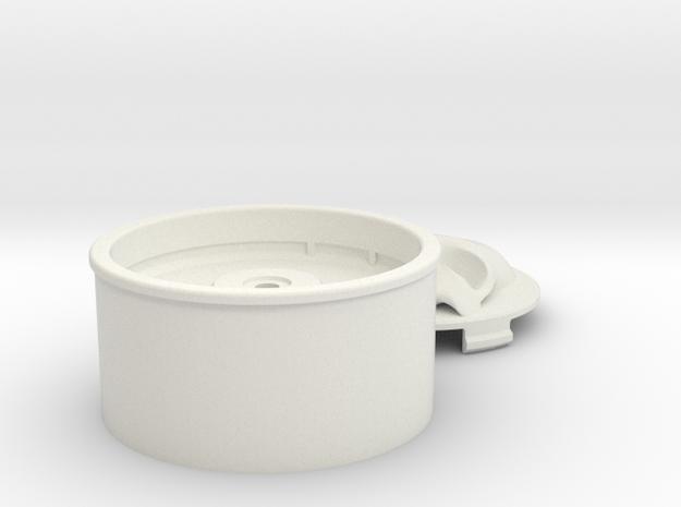 Helios Skull Wheel in White Natural Versatile Plastic