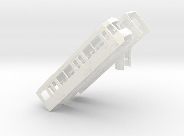Gehäuse Stadtbahnwagen B Bügelfalte und Schwenktür in White Processed Versatile Plastic