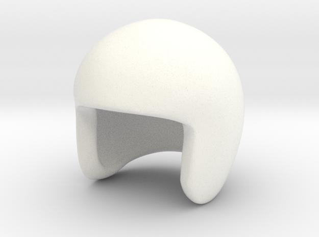 SR30004 SRB driver Helmet (4 of 5) in White Strong & Flexible Polished