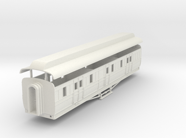 3mm scale GNRi M1 van without duckets in White Natural Versatile Plastic