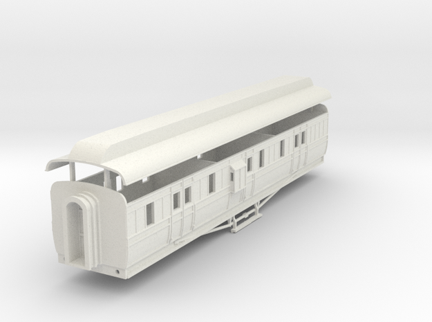 3mm scale GNRi m1 van with duckets in White Natural Versatile Plastic