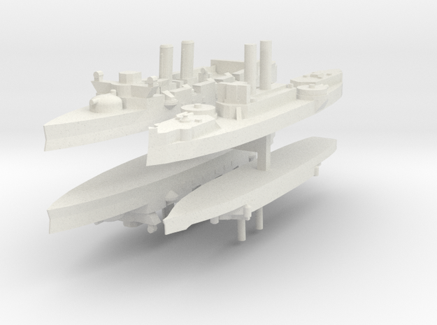 Span-Am Fleet 1:2400 (4 Ships) 3d printed