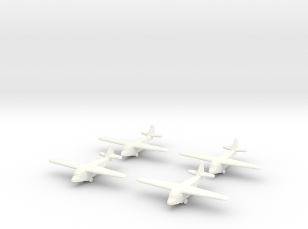 Kokusai Ku-8 (x4) (Global War Scale) in White Processed Versatile Plastic