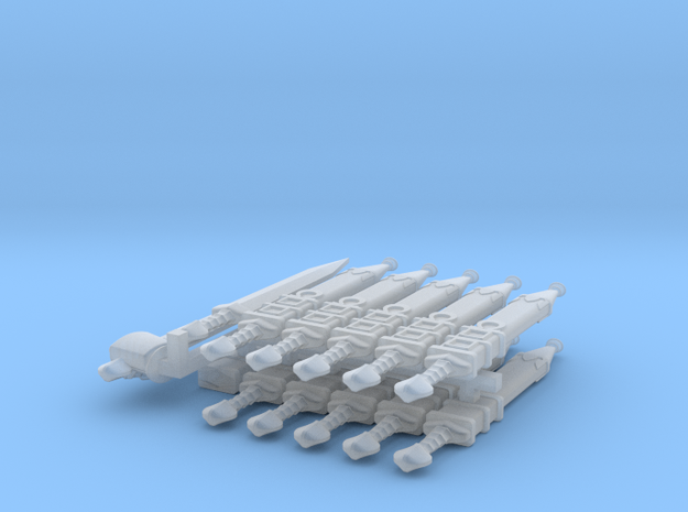 10 Sheathed Omega Gladius for 28mm miniatures 3d printed