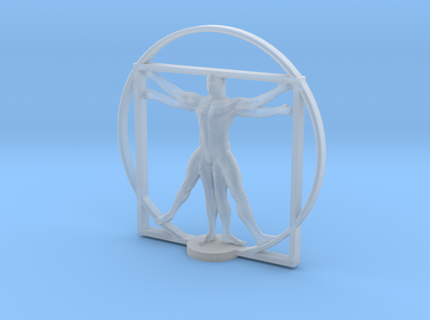 Vitruvian cyborg 2 inches tall in Smooth Fine Detail Plastic