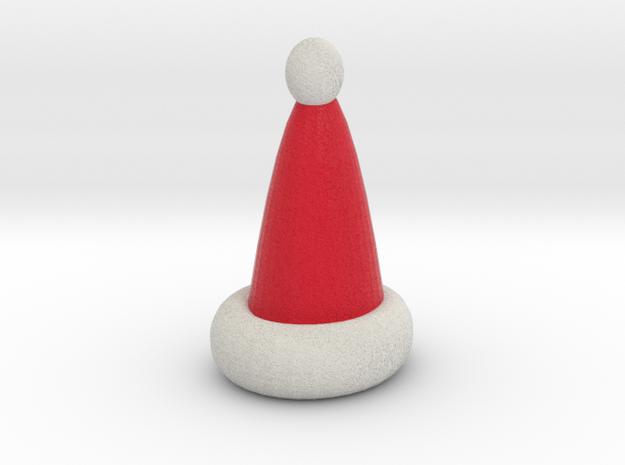 Santa Hat  ornament in Full Color Sandstone