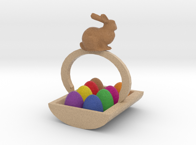 Easter Egg Basket 3d printed