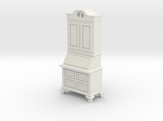 1:24 Secretary Cabinet in White Natural Versatile Plastic