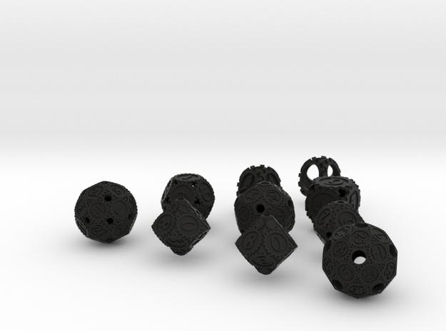 GearpunkDiceFullSet 3d printed