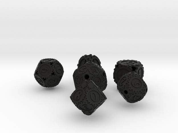 GearpunkDiceSixSet 3d printed