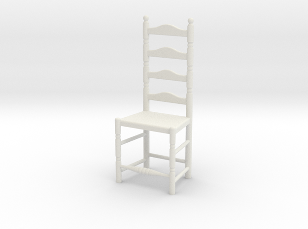 1:24 Lad Chair 7 in White Strong & Flexible