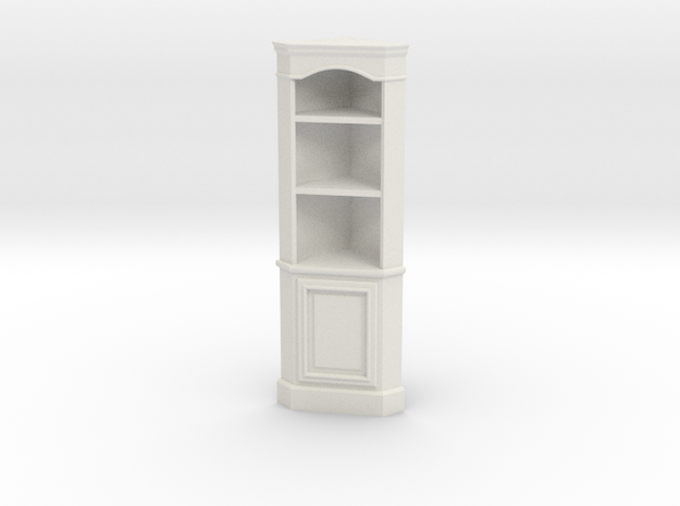 1:24 Corner Cabinet, Short in White Strong & Flexible