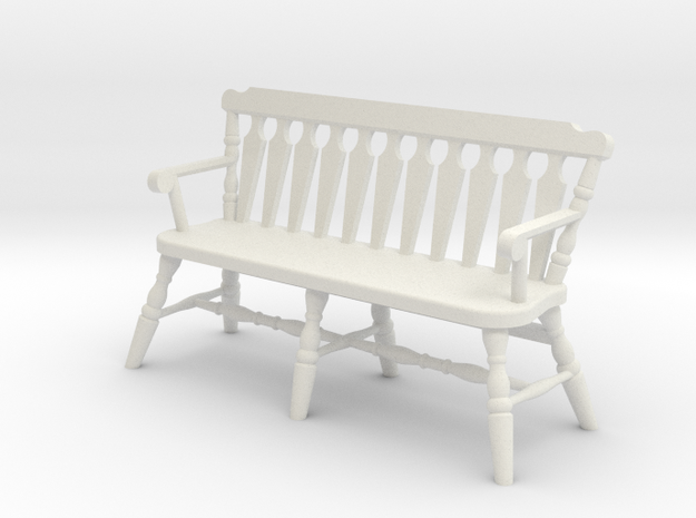 1:24 Deacon's Bench in White Natural Versatile Plastic