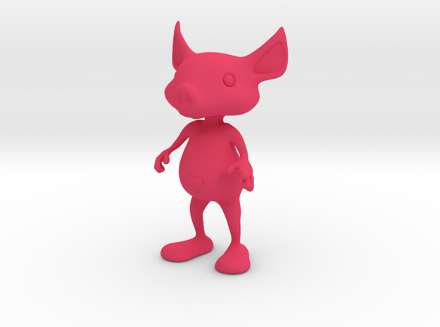 Tiny Heart Pig 3d printed