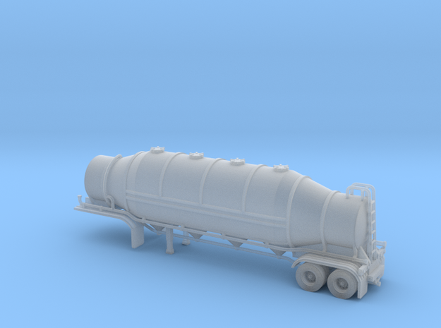 N scale 1/160 Dry Bulk 1625 Trailer 09b in Smooth Fine Detail Plastic