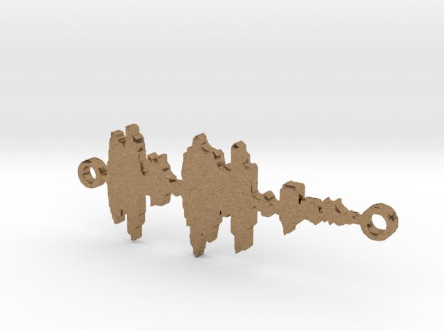 Waveform Necklace 3d printed