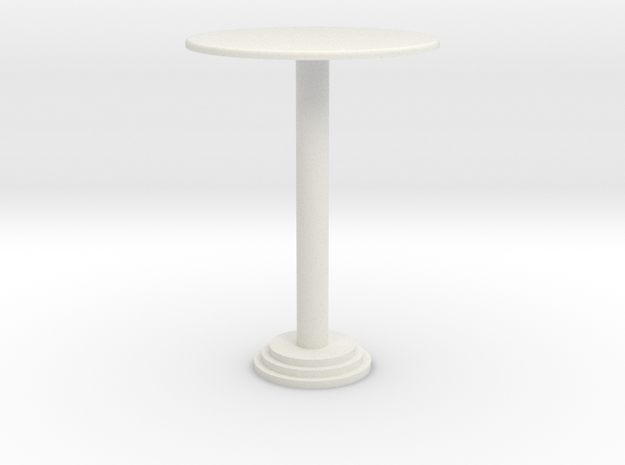 1:24 Bar Table, Tall in White Natural Versatile Plastic