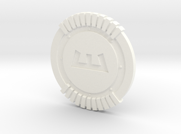 Enforcer Shield in White Strong & Flexible Polished