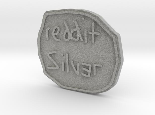 Reddit Silver Coin 3d printed