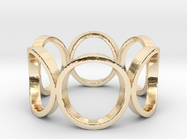 Circle of Life Ring Size 10 in 14K Yellow Gold
