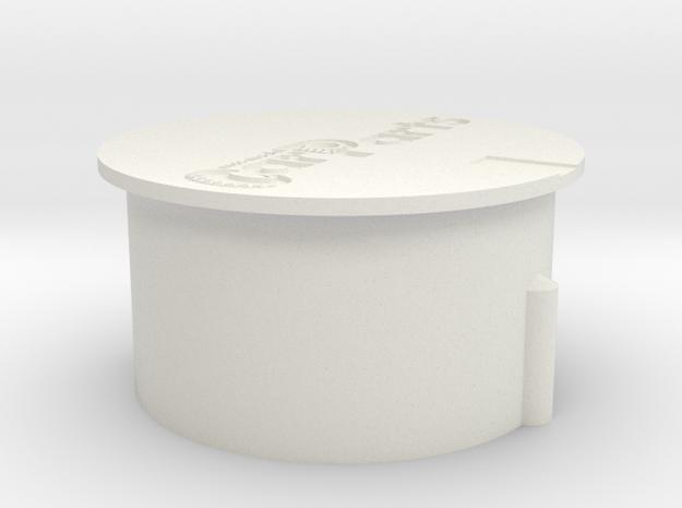 Wisseldeksel in White Natural Versatile Plastic